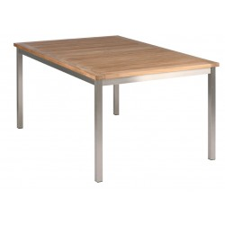 Barlow Tyrie Equinox 150cm Rectangular Dining Table with Teak Top