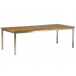 Barlow Tyrie Equinox 230cm Rectangular Extending Dining Table with Teak Top