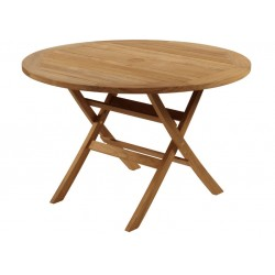 Barlow Tyrie Ascot 110cm Round Folding Teak Dining Table
