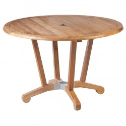 Barlow Tyrie Chesapeake 120cm Round Teak Dining Table