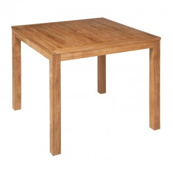 Barlow Tyrie Linear 90cm Square Teak Dining Table