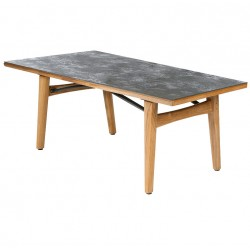 Barlow Tyrie Monterey 200cm Square Teak Dining Table with Oxide Ceramic Top