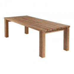 Barlow Tyrie Titan 240cm Rectangular Rustic Teak Dining Table