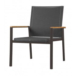 Barlow Tyrie Aura Deep Seating Armchair - Graphite Frame with Charcoal Sling