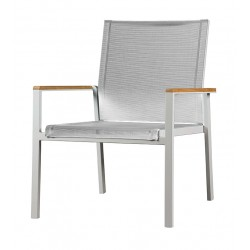 Barlow Tyrie Aura Deep Seating Armchair - Arctic White Frame with Pearl Sling