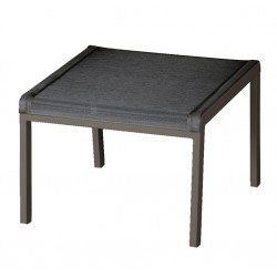 Barlow Tyrie Aura Deep Seating Footstool - Graphite Frame with Charcoal Sling
