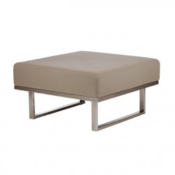 Barlow Tyrie Mercury Deep Seating Ottoman