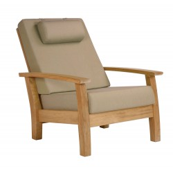 Barlow Tyrie Haven Deep Seating Reclining Armchair with Seat and Back Cushions