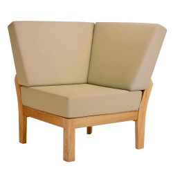 Barlow Tyrie Haven Deep Seating Corner Unit with Seat and Back Cushions