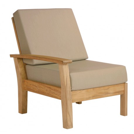 Barlow Tyrie Haven Deep Seating Left End Unit with Seat and Back Cushions
