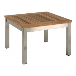 Barlow Tyrie Equinox 60cm Square Coffee Table with Teak Top