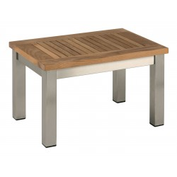 Barlow Tyrie Equinox Sun Lounger Side Table with Teak Top