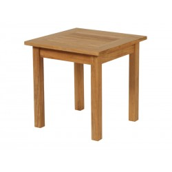 Barlow Tyrie Colchester 54cm Square Side Table - High