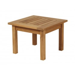 Barlow Tyrie Colchester 54cm Square Side Table - Low
