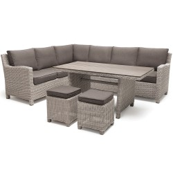 Kettler Palma Right Hand Casual Dining Corner Set White Wash