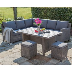 Kettler Palma Right Hand Casual Dining Corner Set Rattan