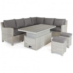 Kettler Palma Left Hand Casual Dining Corner Set White Wash