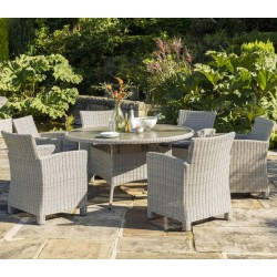 Kettler Palma 6 Seater Dining Set – Whitewash