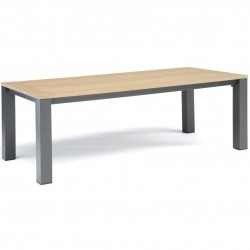 Kettler Elba 220 x 100cm Rectangular Dining Table with Teak Top