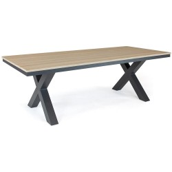 Kettler Elba Picnic Grande 240 x 110cm Rectangular Dining Table with Teak Top