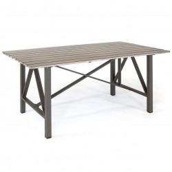 Kettler LaMode 180 x 90cm Rectangular Table with Painted Aluminum Slatted Top