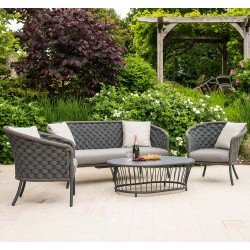 Alexander Rose Cordial Wide Rope Sofa Set