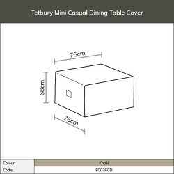 Bramblecrest Tetbury Mini Casual Dining Table FC076CD