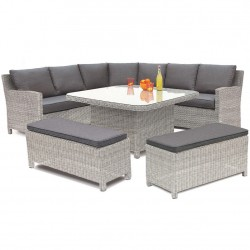 Kettler Palma Grande Casual Dining Set White Wash