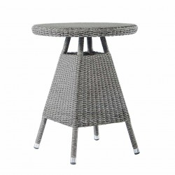 Alexander Rose Monte Carlo 0.6m Bistro Table with Glass Top