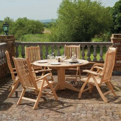 Alexander Rose Roble 6 Seater Dining Set