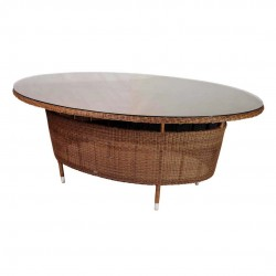 San Marino Oval Table with Glass