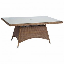 San Marino 1.6m x 1.0m Rectangular Table with Glass
