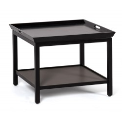 Neptune Aldwych Low Lamp Table – Warm Black