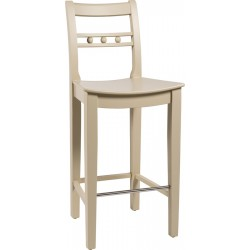 Neptune Suffolk High Back Bar Stool - Limestone