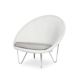 Vincent Sheppard Gigi Cocoon with Stainless Steel Frame and Seat Cushion