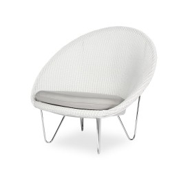 Vincent Sheppard Gigi Cocoon with Black Powder Coated Steel Frame and Seat Cushion