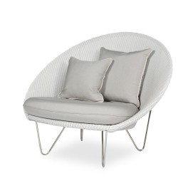 Vincent Sheppard Gigi Lounge with Stainless Steel Frame and Seat Cushion