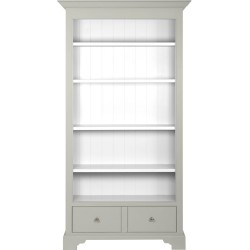 Neptune Chichester Full Height Bookcase - Limestone