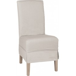 Neptune Long Island Linen Dining Chair with Oak Legs - Natural