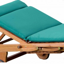 Alexander Rose Polyester Sunlounger Cushion - Green