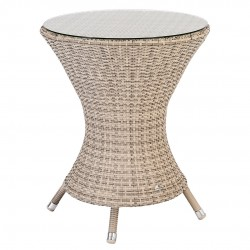 Alexander Rose Ocean Pearl Wave 0.6m Bistro Table with Glass Top