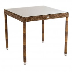 Alexander Rose San Marino 0.8m Square Table with Glass Top