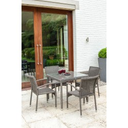 Alexander Rose Monte Carlo 4 Seater Dining Set