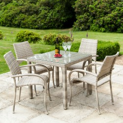 Alexander Rose Ocean Pearl 4 Seater Dining Set