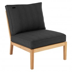 Alexander Rose Roble Modular Single Middle Seat with Cushions