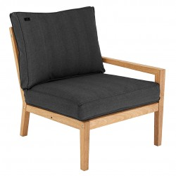 Alexander Rose Roble Right End Seat with Cushions