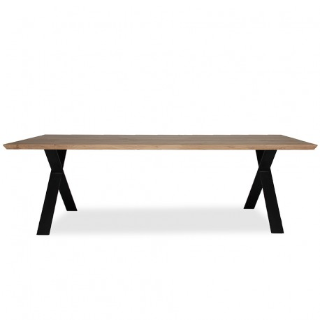 Vincent Sheppard Albert 'X' Frame 220cm x 100cm Table with 1 Piece Top