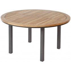 Barlow Tyrie Aura 140cm Round Table with Teak Top