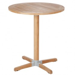Barlow Tyrie Bermuda 90cm Round Teak High Dining Table