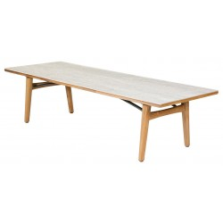 Barlow Tyrie Monterey 300cm Rectangular Dining Table with Frost Ceramic Top
